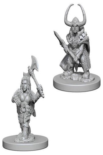 D&D Nolzur's Marvelous Unpainted Miniatures: Dwarf Female Barbarian (2 stk)