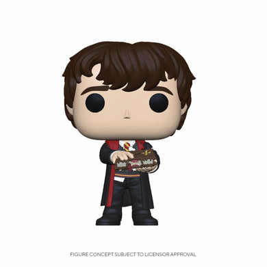 Harry Potter - POP! Movies Vinyl Figure Neville w/Monster Book 9 cm