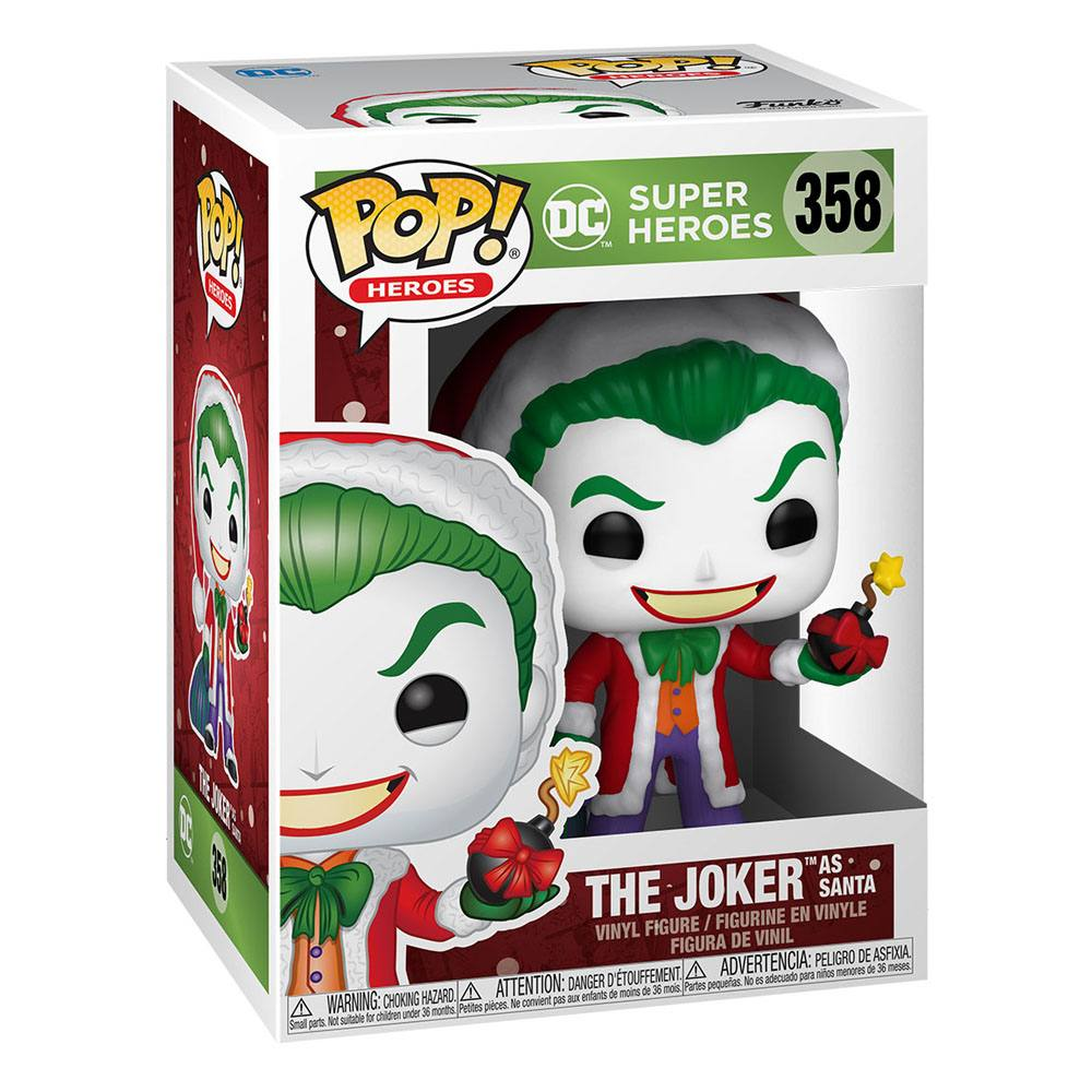 DC Comics POP! Heroes Vinyl Figure DC Holiday: The Joker as Santa 9 cm