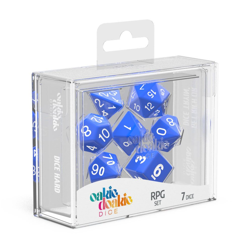Oakie Doakie Dice RPG Set Solid - Blå 7 stk