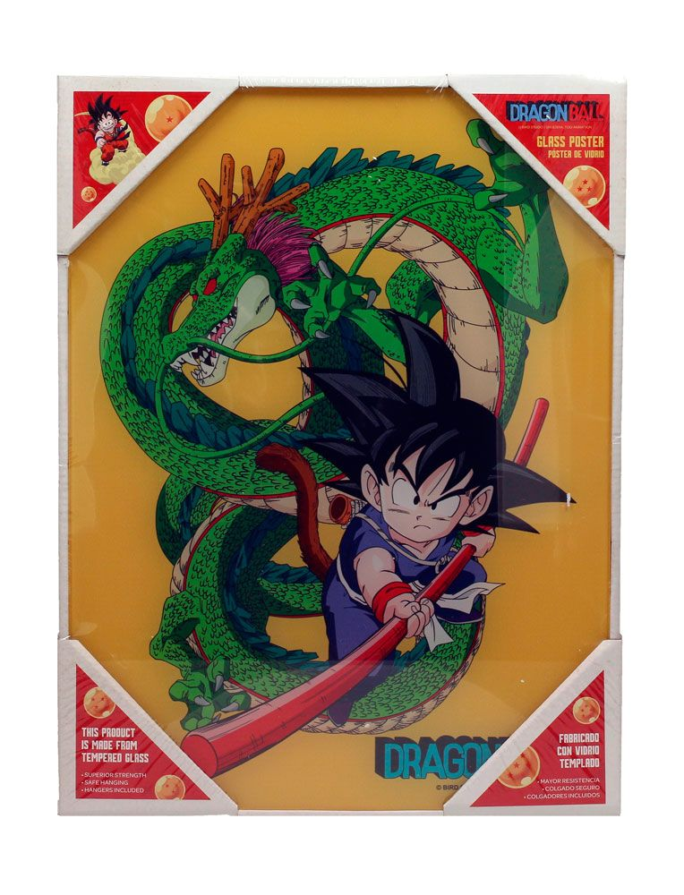 Dragon Ball Z Glas Poster Kid Goku & Shenron 30 x 40 cm