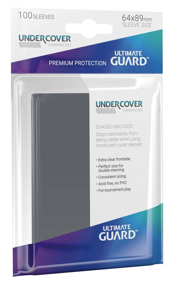Sleeves - Ultimate Guard Undercover Sleeves Standard Size (100 stk) 64x89mm