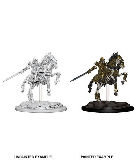 Nolzur's Marvelous Miniatures Skeleton Knight on Horse (Ikke malet) (1 stk)
