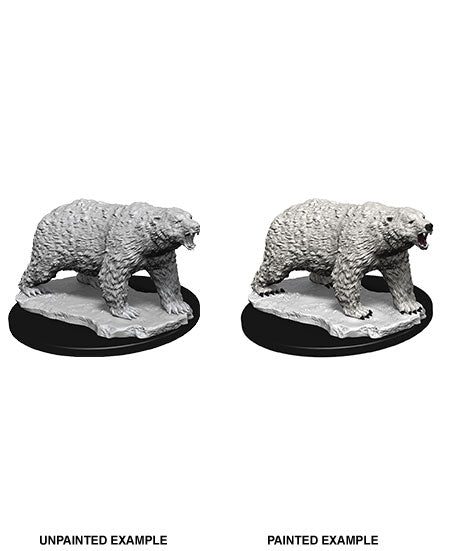 WizKids Deep Cuts Miniature Polar Bear Case  (Ikke malet) (1 stk)