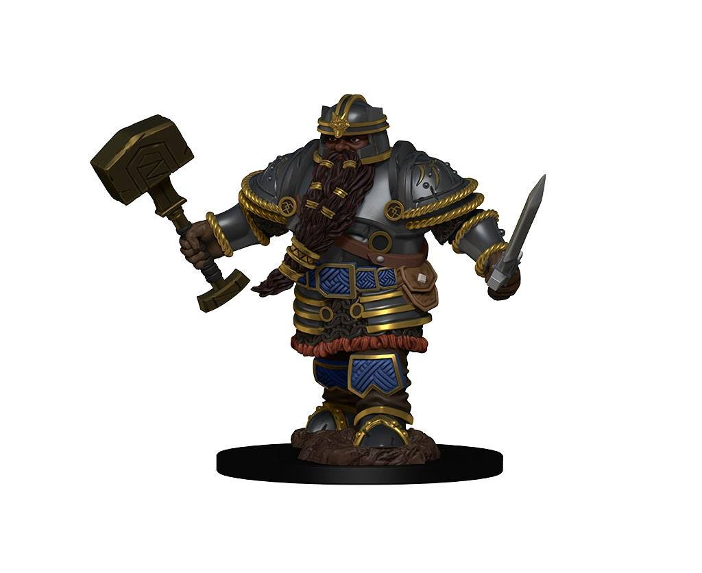 D&D Icons of the Realms Premium Miniature pre-painted Dwarf Male Fighter (1 stk - Malet)