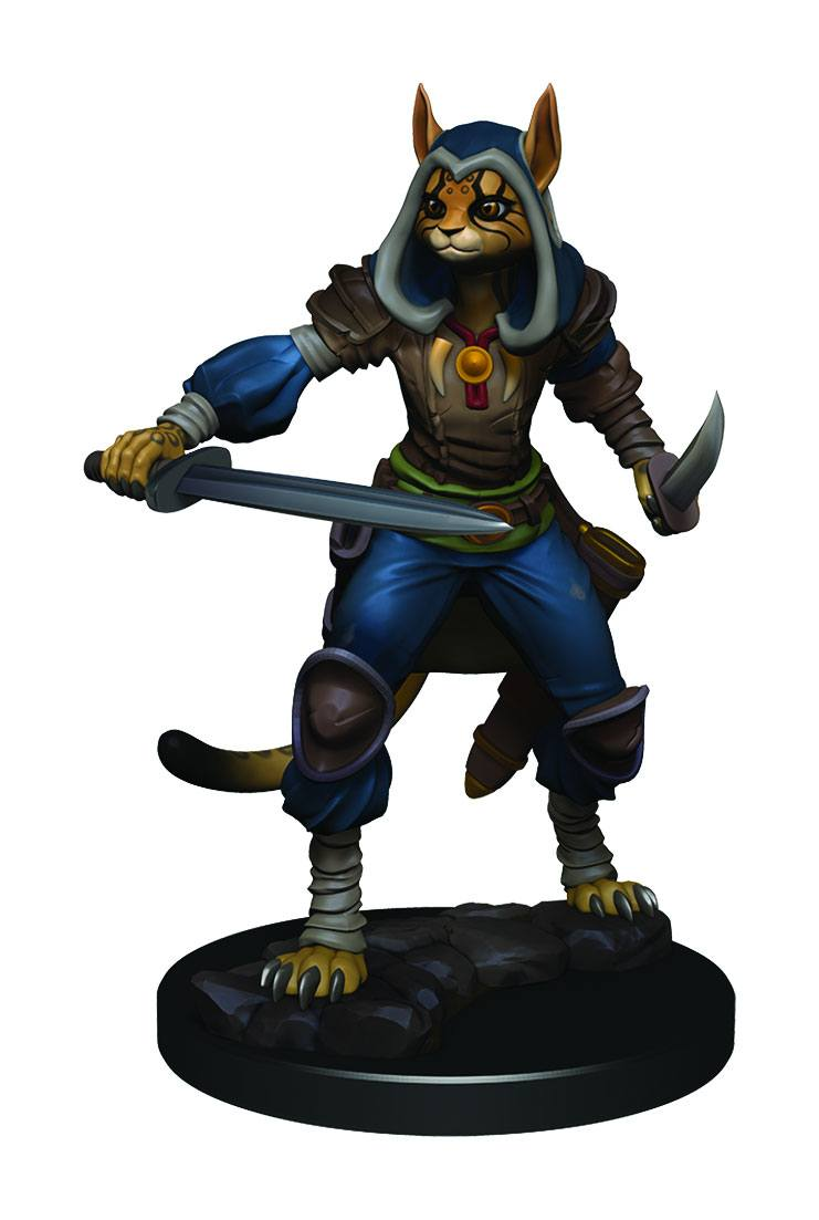 D&D Icons of the Realms Premium Figures: Female Tabaxi Rogue (1 stk - malet)