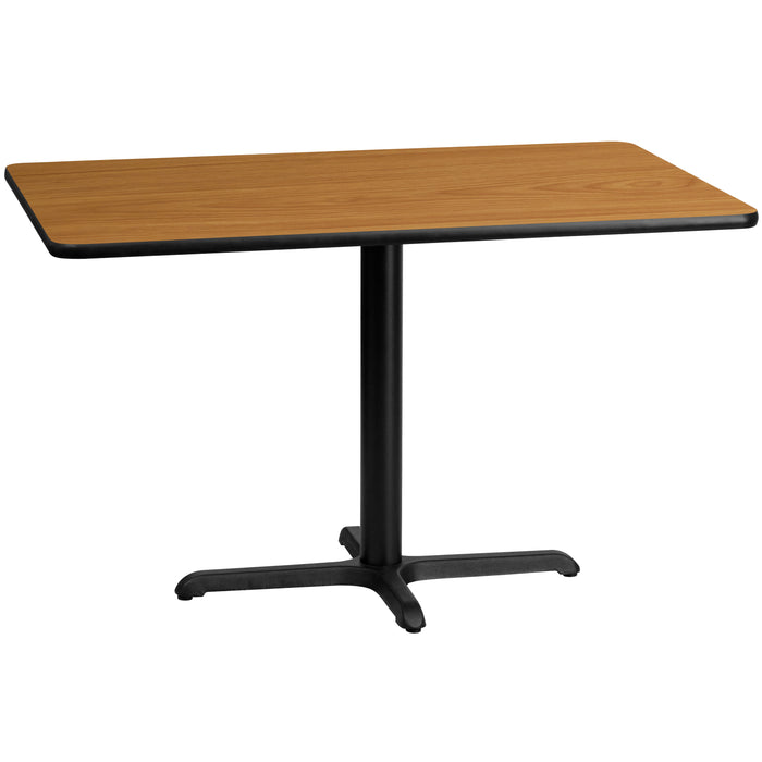 30'' x 48'' Rectangular Natural Laminate Restaurant Table Top with 22'' x 30'' Table Height Base
