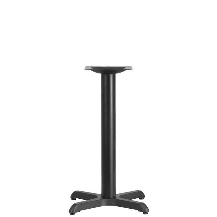22'' x 22'' Restaurant Table X-Base with 3'' Dia. Table Height Column