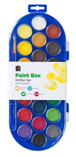 Paint Box Water Paints - 22 disc set with brush - Wild Ones Play