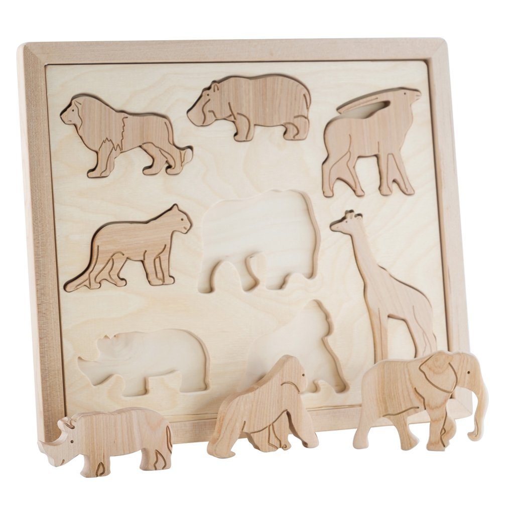 Animals Of Africa - Wooden Sorting Animal Puzzle