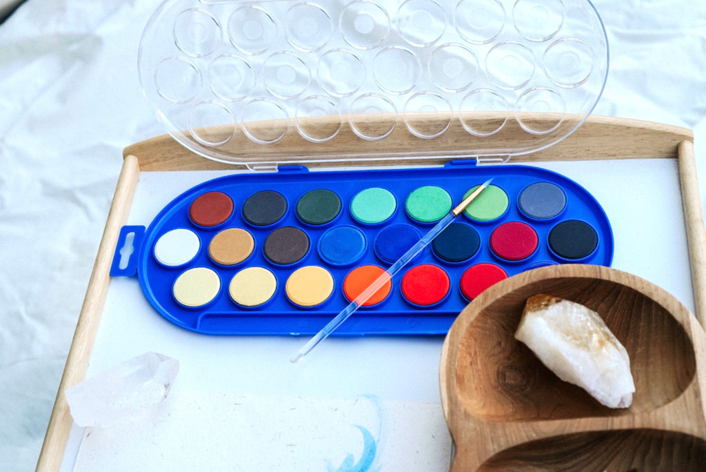 Paint Box Water Paints - 22 disc set with brush