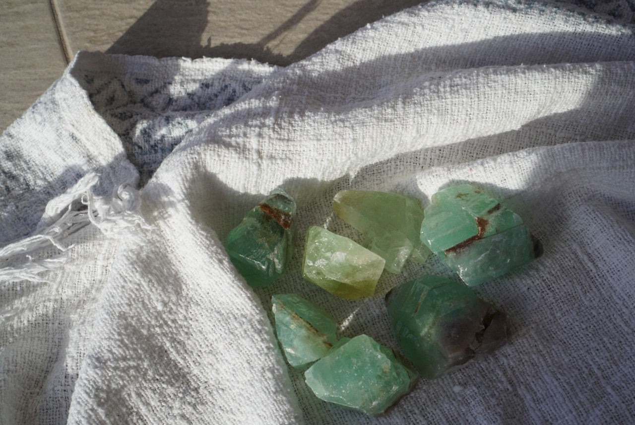 Calcite Chunk - Emerald Green - Wild Ones Play