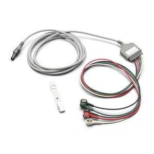 Welch Allyn 008-0879-00 10' ECG Cable, 5 Attached Lead, Snap, AAMI-Preferred Medical Plus