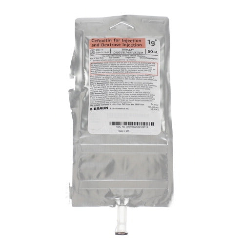 B. Braun 3123-11 Cefoxitin Duplex Container for Injection and Dextrose Injection (Case of 24)-Preferred Medical Plus