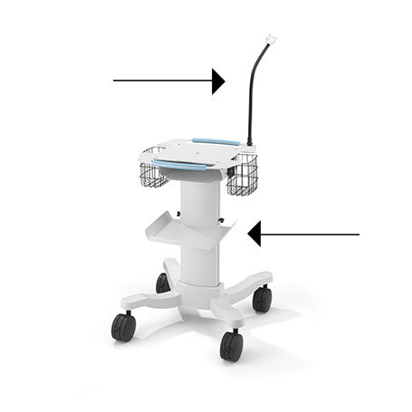 Welch Allyn 102794 Cable Arm and Shelf for 105341 Mobile Cart ECG-Preferred Medical Plus