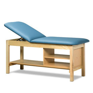 Clinton Industries 1030 Treatment Table with Shelving-Preferred Medical Plus