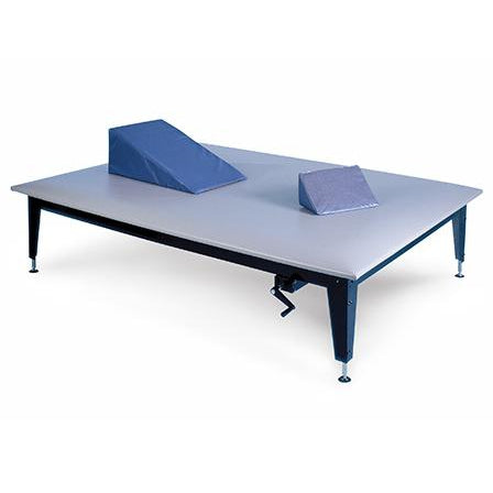 Hausmann Industries 1425 Crank Hydraulic Mat Therapy Table-Preferred Medical Plus