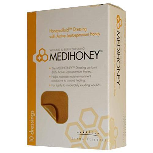 Derma Sciences 31245 Medihoney Honeycolloid Dressing Non-Adhesive (4 in. x 5 in.)-Preferred Medical Plus