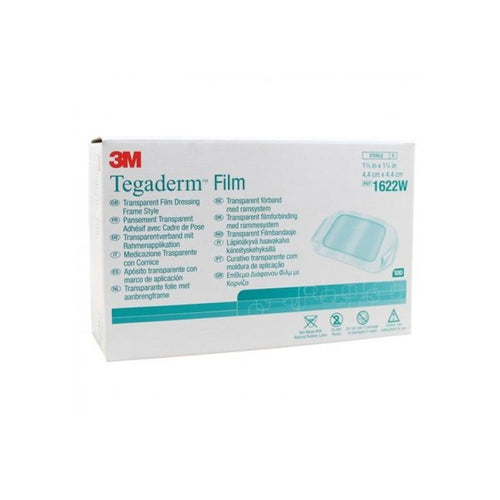 3M 1622W Tegaderm 1622W Frame Style Transparent Dressing (1-¾ in. x 1-¾ in.)-Preferred Medical Plus
