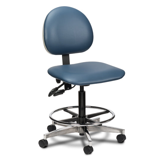 Clinton Industries 2166W/2188-W Epic Series Lab Stool with Contour Seat and Backrest-Preferred Medical Plus