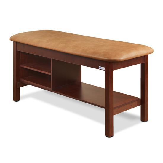 Clinton Industries 300 Classic Series Flat Top Treatment Table with Shelving-Preferred Medical Plus
