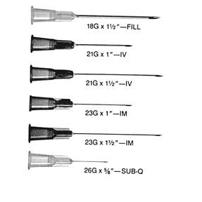 BD 303005 Non-Sterile Regular Bevel Needles with Shields (Case of 5000)-Preferred Medical Plus