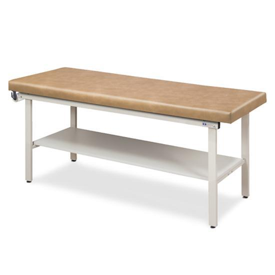 Clinton Industries 3200 Flat Top Alpha S-Series Straight Line Treatment Table with Shelf-Preferred Medical Plus