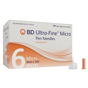 BD 320749 Ultra-Fine Micro Pen Needles with PentaPoint Comfort (Case of 1200)-Preferred Medical Plus