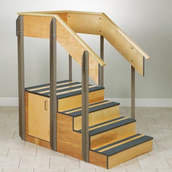 Clinton Industries 4-8010/8020 Staircase with Storage Island-Preferred Medical Plus