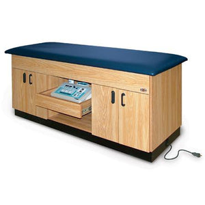 Hausmann Industries 4079 Modality Treatment Table with Cabinet-Preferred Medical Plus