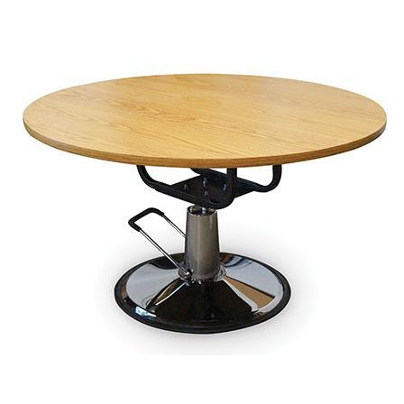 Hausmann Industries 4335 Round Rehab Therapy Table-Preferred Medical Plus
