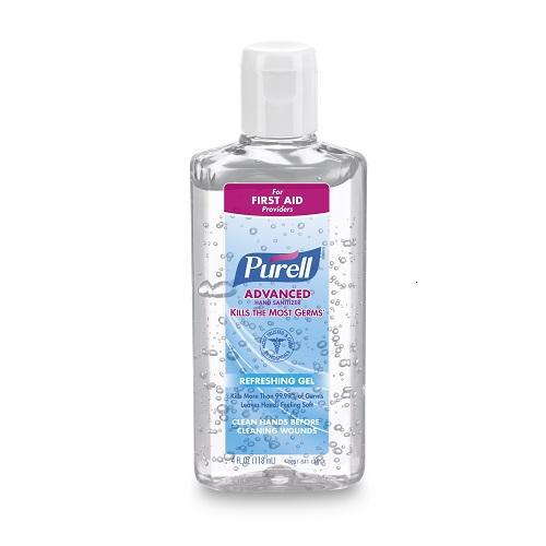 Gojo Purell Advanced Gel Flip Cap Bottle 4 oz. (Pack of 24)-Preferred Medical Plus