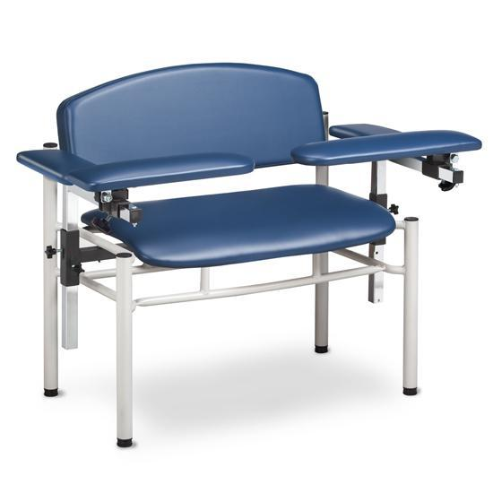 Clinton Industries 6006-U Extra-Wide Blood Drawing Chair with Padded Flip Arms-Preferred Medical Plus