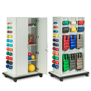 Clinton Industries 6151 Element Series CabinetRac Weight Rack with Door and Open Top Storage-Preferred Medical Plus