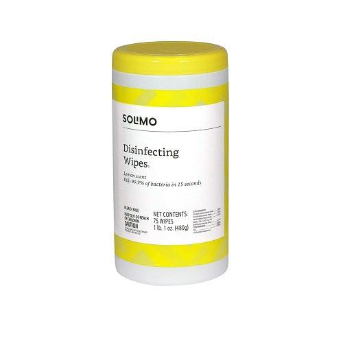 Solimo Disinfectent Wipes (Canister of 75 Wipes)-Preferred Medical Plus