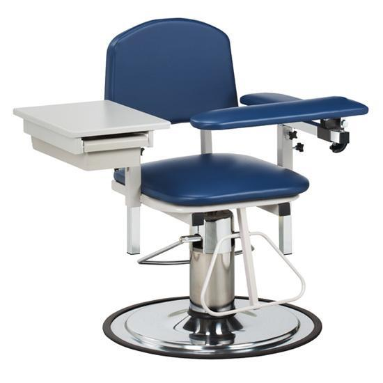 Clinton Industries 6320 H-Series Blood Drawing Chair with Drawer-Preferred Medical Plus