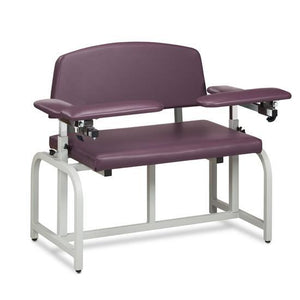 Clinton Industries 66000B Bariatric Blood Drawing Chair with Padded Flip Arms-Preferred Medical Plus