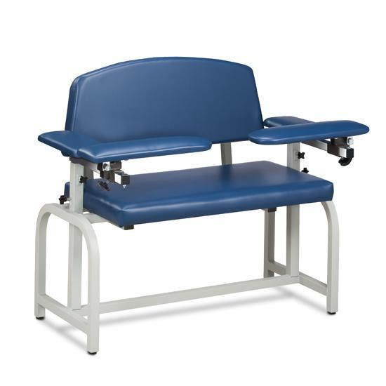 Clinton Industries 66000 Extra Wide Blood Drawing Chair with Flip Arms-Preferred Medical Plus