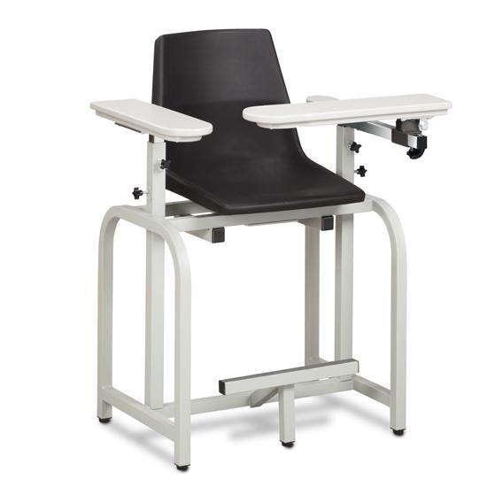 Clinton Industries 66011-P Standard Series Extra Tall Clinton Clean Blood Drawing Chair with Flip Arm-Preferred Medical Plus