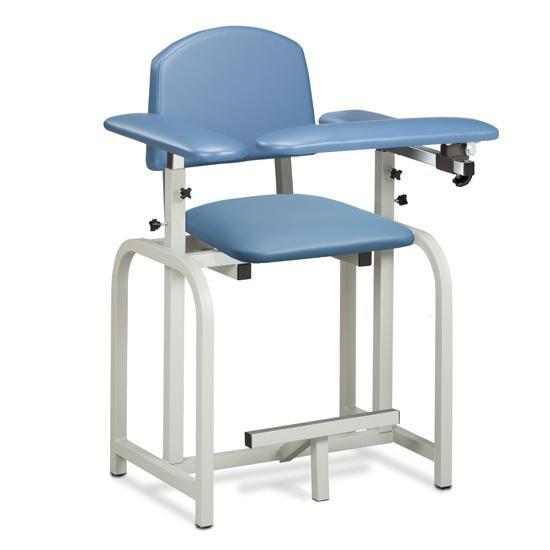 Clinton Industries 66011/66022 Extra Tall Blood Drawing Chair with Flip Arm-Preferred Medical Plus
