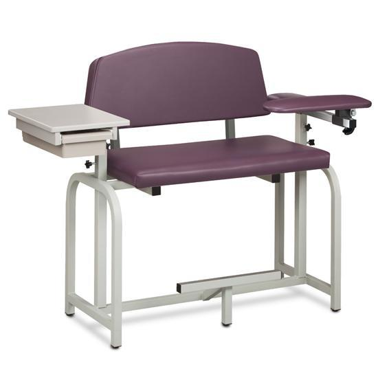 Clinton Industries 66092 Extra Tall and Extra Wide Blood Drawing Chair with Flip Arms-Preferred Medical Plus