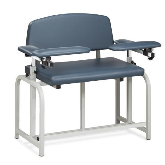 Clinton Industries 66099B Bariatric Extra-Tall Blood Drawing Chair with Padded Arms-Preferred Medical Plus