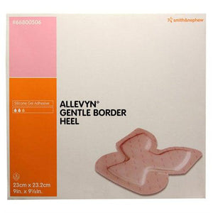 Smith & Nephew 66800506 Allevyn Gentle Border Heel (9 1/10 in. x 9 in.)-Preferred Medical Plus