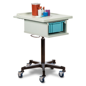 Clinton Industries 67100 One Bin Phlebotomy Cart-Preferred Medical Plus