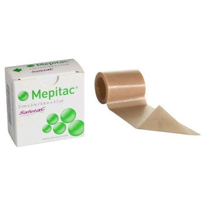 Molnlycke 298300 Mepitac Silicone Tape (¾ in. x 3.3 yd.)-Preferred Medical Plus