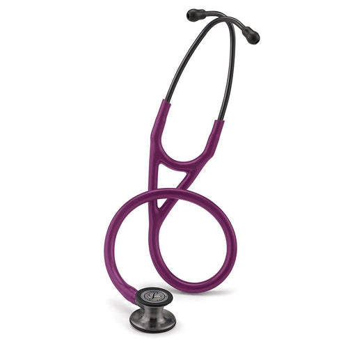 3M 6166 Littmann Cardiology Iv Stethoscope Smoke Finish Chestpiece Plum Tube, 27 in.-Preferred Medical Plus