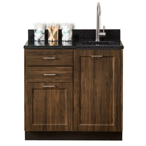 "Clinton Industries 8636 36"" Fashion Finish Base Cabinet w/ Two Doors (Optional Countertop)-Preferred Medical Plus"