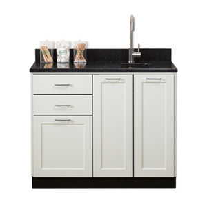 "Clinton Industries 8642 42"" Fashion Finish Base Cabinet w/ Three Doors (Optional Countertop)-Preferred Medical Plus"