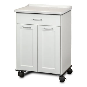 Clinton Industries 8921-AF Fashion Finish Mobile Treatment Cabinet with 2 Doors and 1 Drawer-Preferred Medical Plus