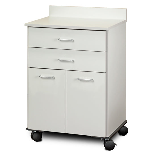 Clinton Industries 8922 Mobile Treatment Cabinet with 2 Doors & 2 Drawers-Preferred Medical Plus